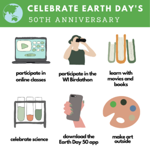graphic of Earth Day activities